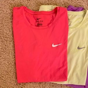 Nike Tops - A set of 4 Nike Dri-Fit Shirts in Various Colors
